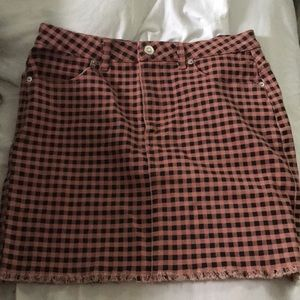 Pink and Black Gingham Skirt
